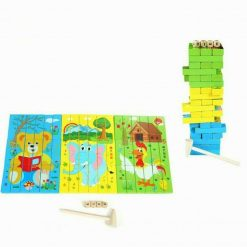 Joc multifunctional si educativ Puzzle - Jenga