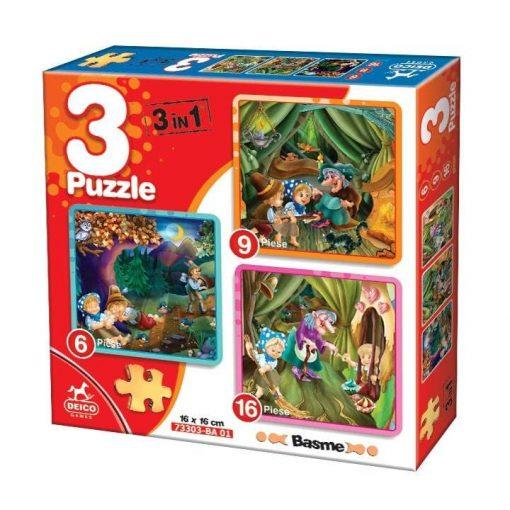 3 Puzzle Basme Hansel si Gretel