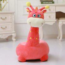 Fotoliu din Plus Girafa de Calarait Corai