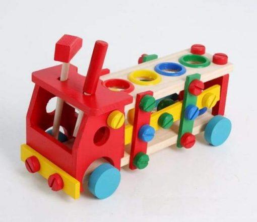Jucarie creativa Camion din lemn