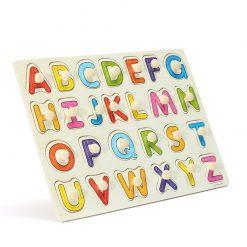 Puzzle litere mari Alfabet din lemn