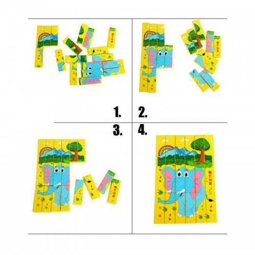 Joc multifunctional si educativ Puzzle - Jenga