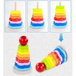 Jucarie Turn tip Montessori colorata