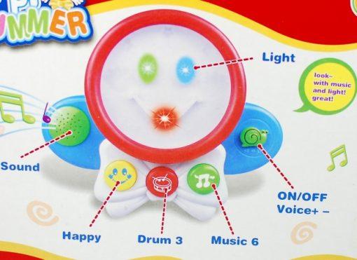 Toba distractiva Happy Drummer cu melodii si lumini