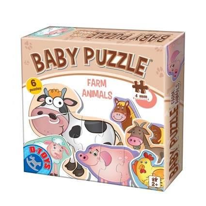 Animalute Baby Puzzle Farm Animals