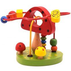 Jucarie creativa motricitate din lemn Montessori