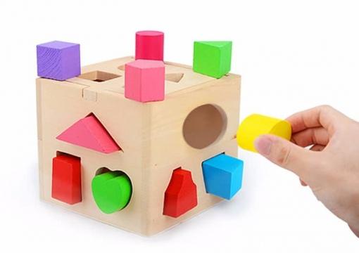 Caseta din Lemn - Invatare Forme Geometrice