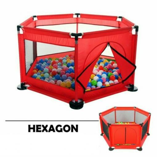 Tarc de Joaca Pliabil pentru Bebe cu 50 de bile incluse