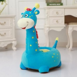 Fotoliu din Plus Girafa de Calarait Albastru