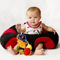Fotoliu din Plus pentru Bebe – Rosu cu Negru pentru sezut