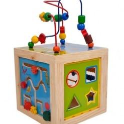 Cub Educativ din Lemn Montessori