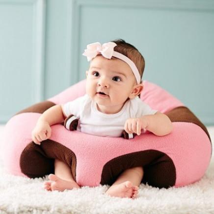 Fotoliu din Plus pentru Bebe – Roz cu Maro pentru sezut