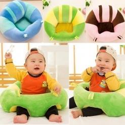 Fotoliu din Plus pentru Bebe – Verde si Galben pentru sezut
