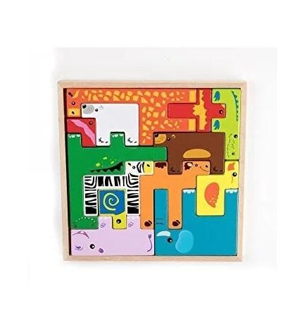 Joc puzzle cu animale tip tetris 3D