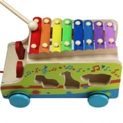 Camion de lemn cu Xilofon