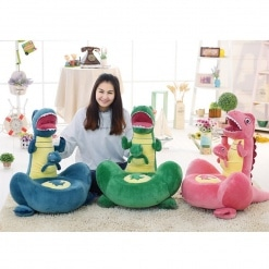 Fotoliu din Plus pentru Copii - Dino Albastru