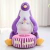 Fotoliu din Plus cu Taburet Detasabil – Pinguin Mov