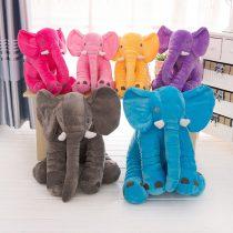 Plus Catifelat Fluffy Elefant Colorat