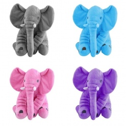 Elefantel din Plus Catifelat cu Paturica
