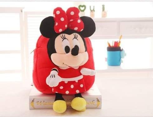 Ghiozdan din Plus cu Mascota  – Minnie Mouse