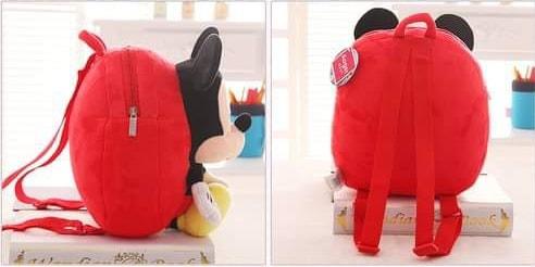 Ghiozdan din Plus cu Mascota – Mickey Mouse