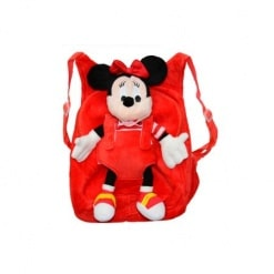 Ghiozdan din Plus cu Mascota  – Minnie Mouse