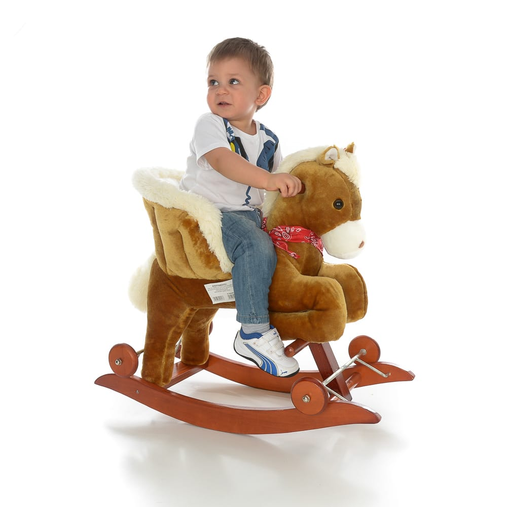 Balansoar Muzical Pentru Copii Calut Maro Alb Toy Story