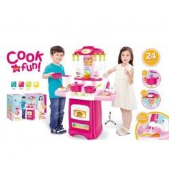 Bucatarie Cook fun cu accesorii pentru copii