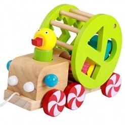 Ratusca din lemn sortator pentru copii