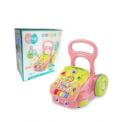 Antepremergator multifunctional cu activitati pentru copii Verde/Roz