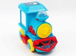 Trenulet electric cu sunete si lumini pentru copii