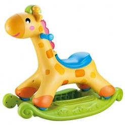 Balansoar din plastic Girafa pentru copii