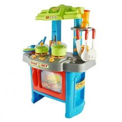 Bucatarie multifunctionala Little Chef cu accesorii Albastru