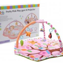 Salteluta interactiva cu proiector Pretty pink pentru bebelusi