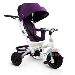 Tricicleta multifunctionala Mamma-Mia Mov cu sezut reversibil si mufa mp3