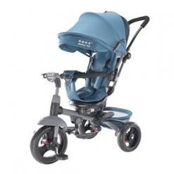 Tricicleta multifunctionala Mamma-Mia Gri-petrol cu sezut reversibil si mufa mp3