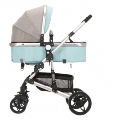Carucior transformabil 2 in 1 Golden Walk Mint-Grey