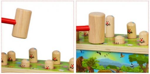 Jucarie lemn Hit Hamster pentru copii