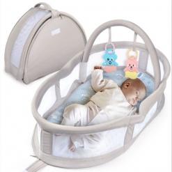 Cosulet portabil pentru bebelusi cu jucarii Grey