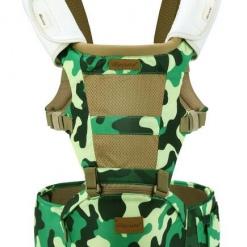 Marsupiu bebe Military Becute cu scaunel detasabil