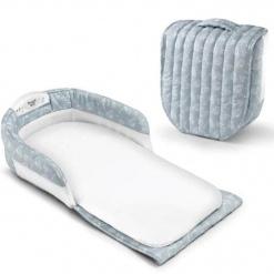 Mini-patut portabil Grey pentru bebelusi
