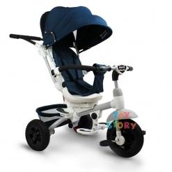 Tricicleta multifunctionala Mamma-Mia Bleumarin cu sezut reversibil si mufa mp3