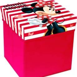 Cutie de depozitare jucarii cu functie de taburet Minnie