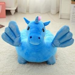 Fotoliu din Plus Unicorn de calarit Albastru