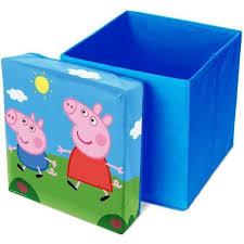 Cutie de depozitare jucarii cu functie de taburet Peppa Pig