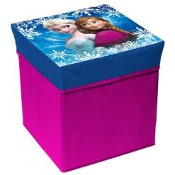 Cutie de depozitare jucarii cu functie de taburet Frozen