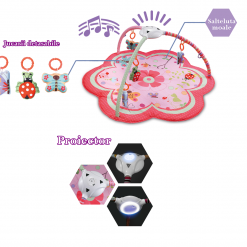 Salteluta interactiva cu proiector Pretty flower pentru bebelusi