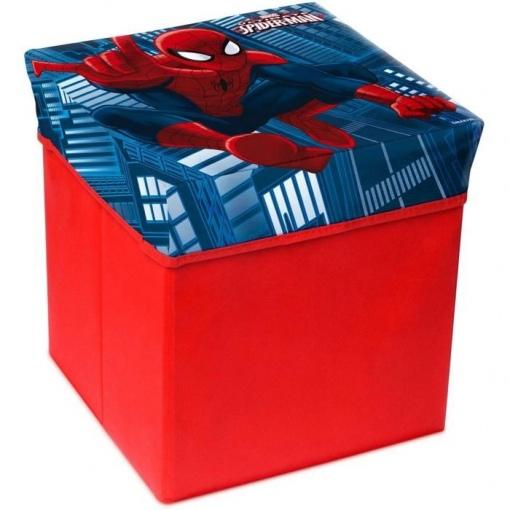Cutie de depozitare jucarii cu functie de taburet Spider-Man