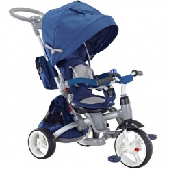 Tricicleta cu scaun reversibil Little Tiger Modi Navy
