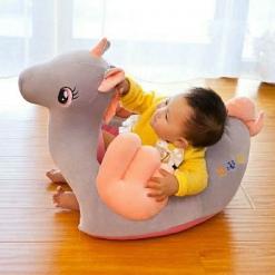 Fotoliu bebe Happy Unicorn Muzical din plus  pentru sezut